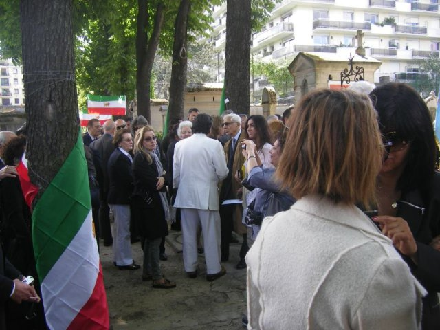 Memorial ceremony of Princess Leila Pahlavi. June 9th 2012